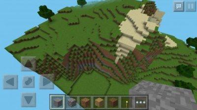 Сид с высушенным морем для Minecraft PE 0.8.1