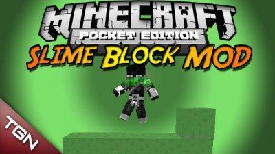 SLIME BLOCK mod для MCPE 0.8.1