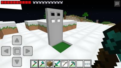 Мод open Iron Door для Minecraft PE