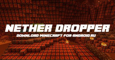 Карта «Nether Dropper» — прыжок в ад