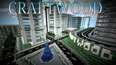 Карта с огромным городом CRAFTWOOD