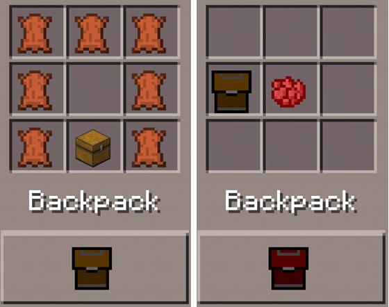 как сделать в майнкрафте рюкзак без модов