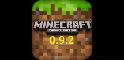 Скачать Майнкрафт Pocket Edition 0.9.2 на Андроид
