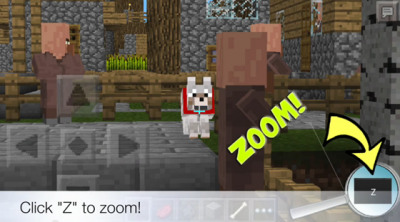 Мод (скрипт) ZOOM для Minecraft 0.9.3, 0.9.4, 0.9.5