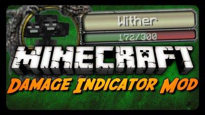 Мод DamageIndicatorMod Minecraft PE 0.9.5