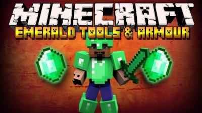 мод Emerald ToolsMod Minecraft PE