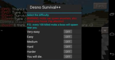 Мод Survival++ для Minecraft PE 0.9.5