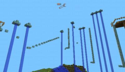 Карта Super Parkour Map для Minecraft PE