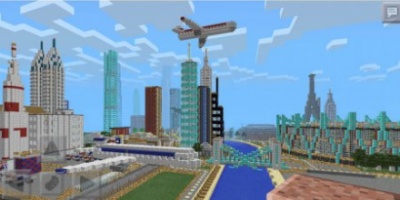Карта MINECRAFT PE GIGANTIC CITY MAP