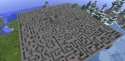 Карта Dragon Maze для Minecraft PE [карта лабиринта]
