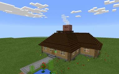 Карта уютного дома для minecraft PE 0.10.0-0.10.x