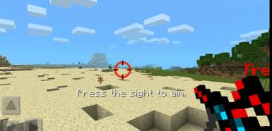 Мод Laser  для Minecraft PE 0.10