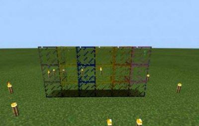 Мод Colorful Glass для Minecraft PE 0.10.x