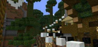 Паркур-карта Overgrown для Minecraft Pocket Edition