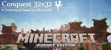 Conquest Texture Pack для Minecraft PE 0.10.x