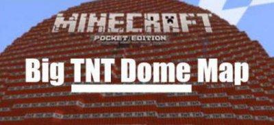 Гигантская ТНТ карта для Minecraft Pocket Edition