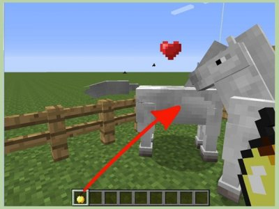 Как создать лошадиную ферму в Minecraft PE?