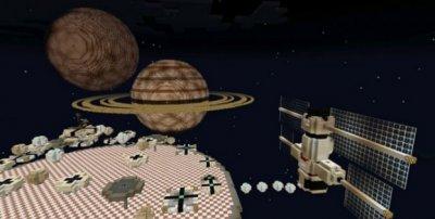 Карта Космос для Minecraft PE 0.15.0