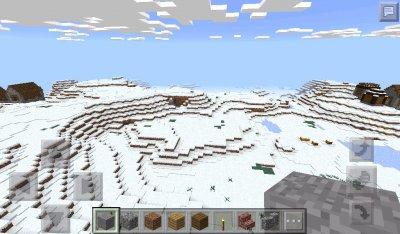 Сид Две деревни в зимнем биоме 0.15.1