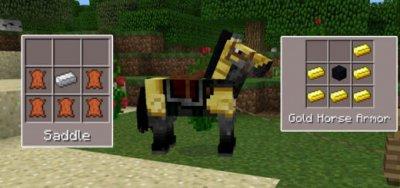 Мод на возможность крафта конной брони для minecraft PE 0.15.6