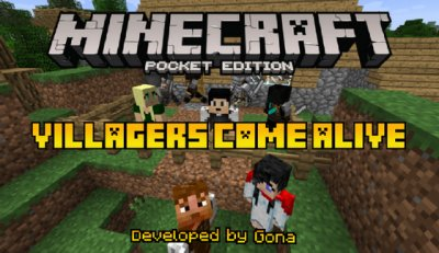 Аддон Villagers Come Alive для Minecraft PE
