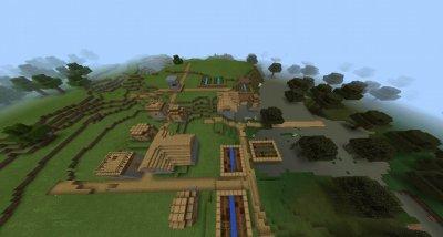 Сид Деревня на Спавне для MCPE 1.0.0