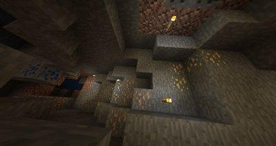 Сид на шахту с золотом для MCPE