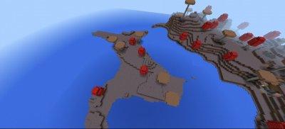 Сид на два соединенных грибных острова 1.0.4 - 1.0.5