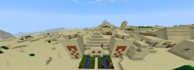 Сид на две деревни в пустынном биоме для MCPE