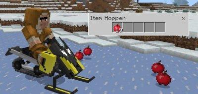 Мод SnowMobile для MCPE 1.0.5