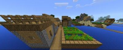 Сид Деревня на пляже для MCPE 1.1