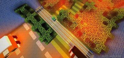 Карта Crossy Road для MCPE 1.1