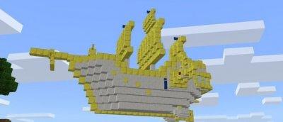 Мод Flying Ship для MCPE 1.1