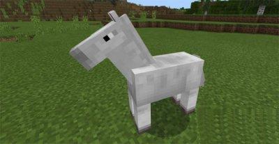 Мод на прежних лошадей в MCPE 1.2