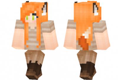 Скин Foxy Lady для Minecraft Pe