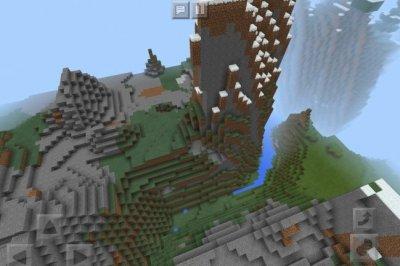 Сид на Горы и Пещеры в MCPE 1.3