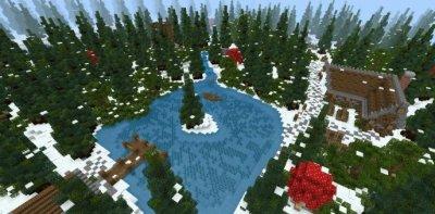 Карта игра на выживание для Minecraft PE 1.9!